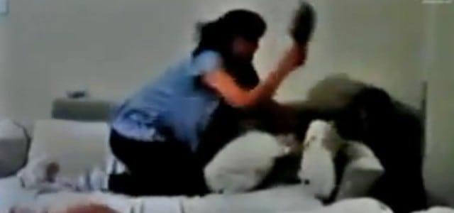 Perros defienden a un niño de los golpes de su madre.